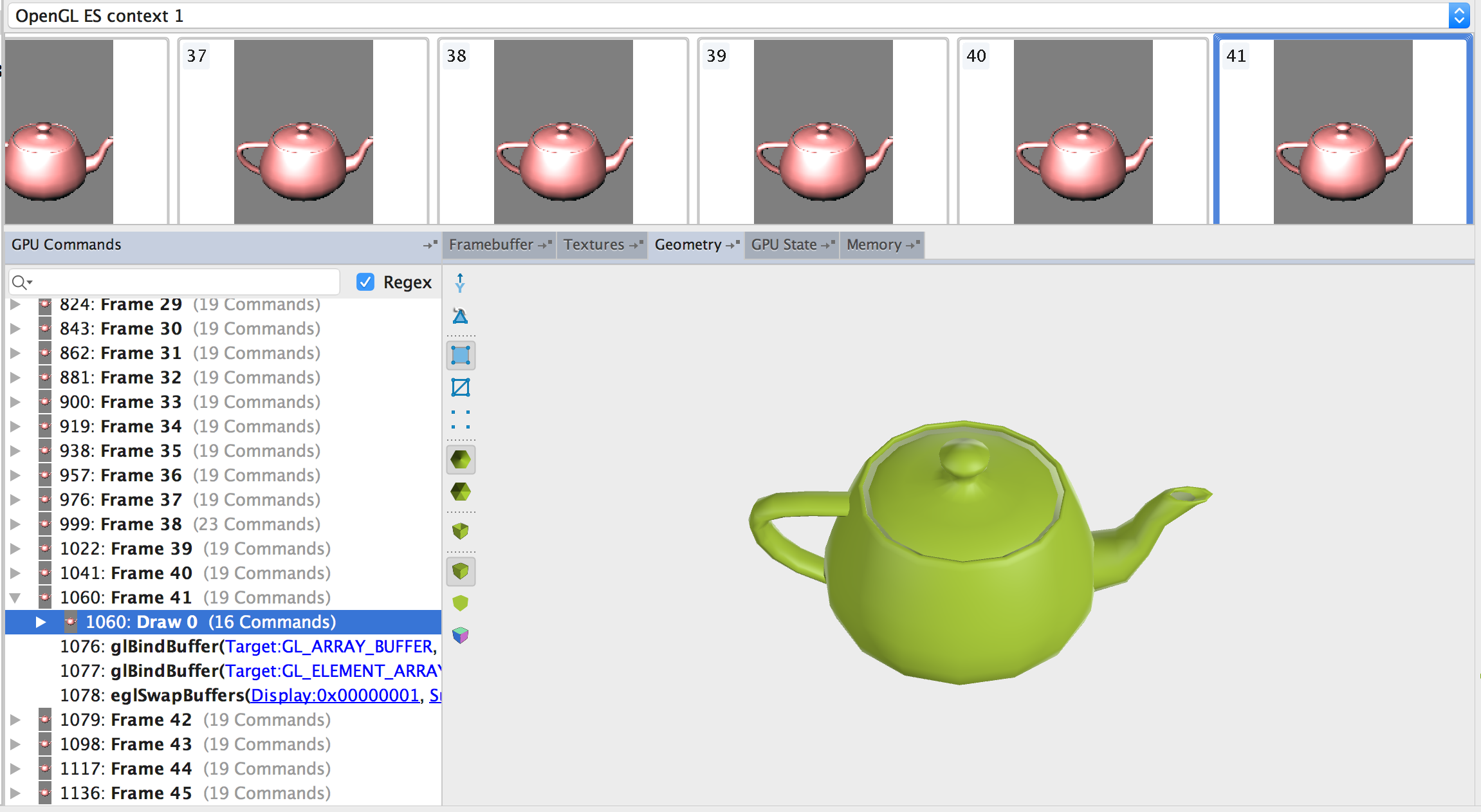 Teapot Geometry tab
