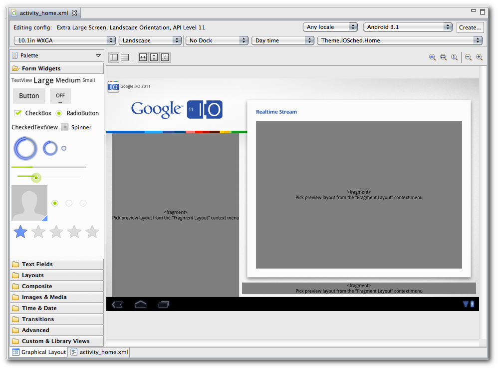 Fragment Support - Android Studio Project Site