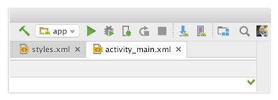 Updated Toolbar with AVD and SDK Manager icons